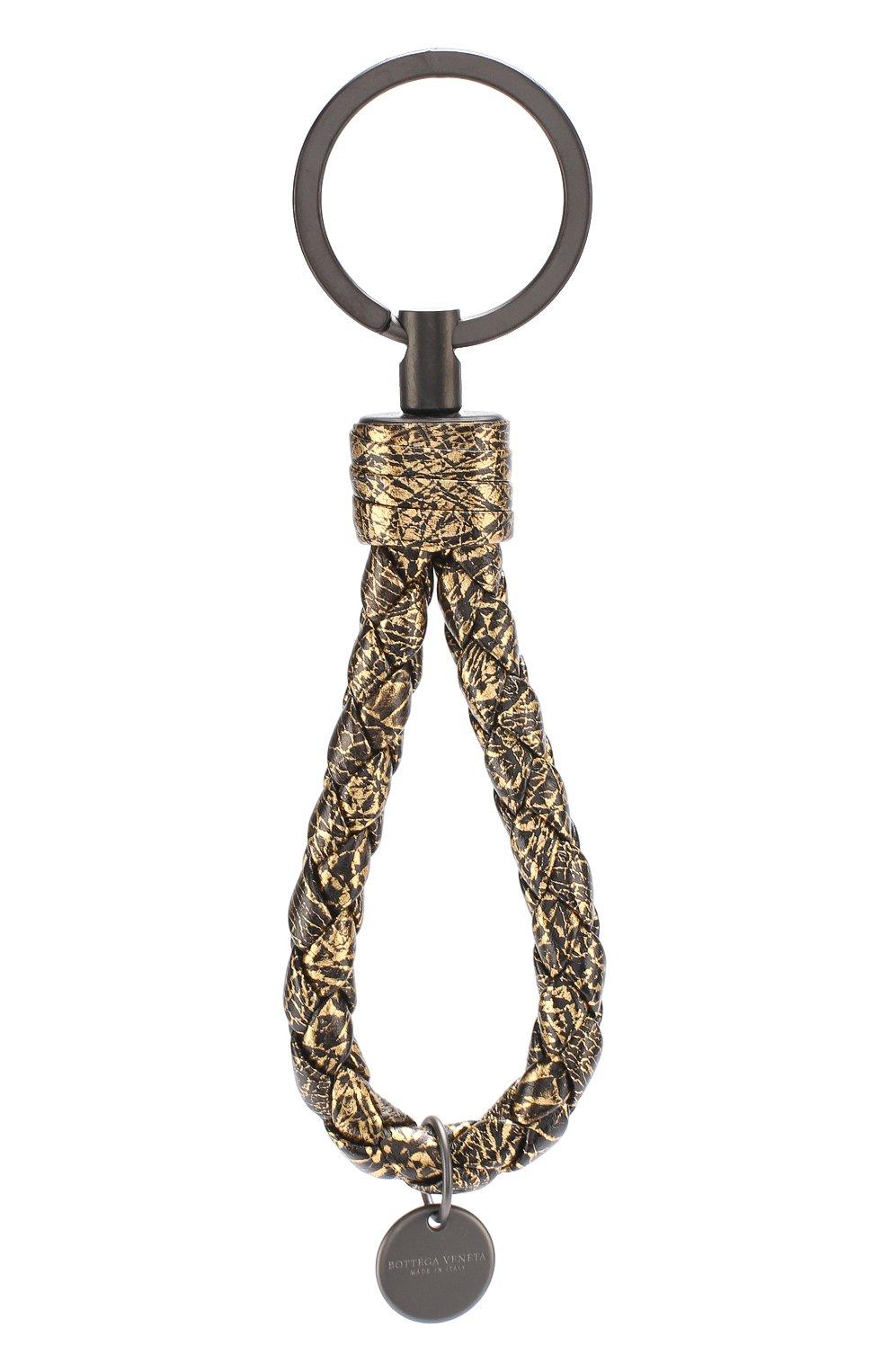 Кожаный брелок для ключей с плетением intrecciato | Фото №1