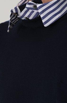 Шерстяной джемпер с контрастной вставкой | Фото №5
