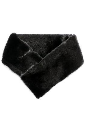 Воротник из меха норки Escada черный | Фото №1