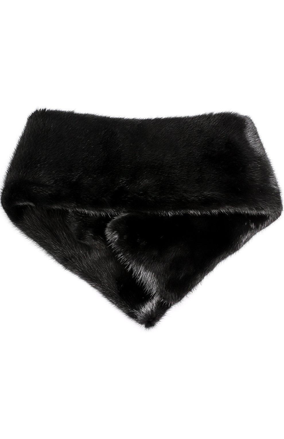 Воротник из меха норки Escada черный | Фото №2