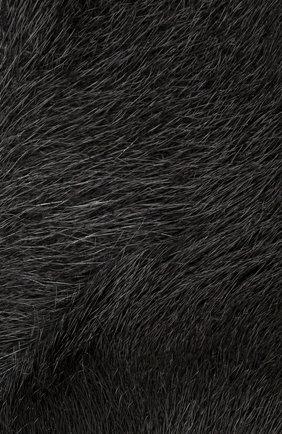 Воротник из меха норки Escada серый   Фото №3