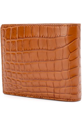 Мужской портмоне из кожи крокодила с отделениями для кредитных карт BOTTEGA VENETA светло-коричневого цвета, арт. 113993/V9023 | Фото 2