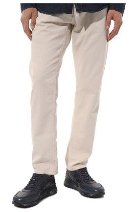 Мужские кожаные кроссовки mick на шнуровке PREMIATA темно-синего цвета, арт. MICK/VAR1807 | Фото 3