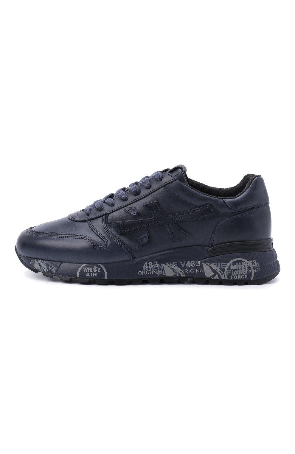 Мужские кожаные кроссовки mick на шнуровке PREMIATA темно-синего цвета, арт. MICK/VAR1807 | Фото 4