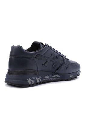 Мужские кожаные кроссовки mick на шнуровке PREMIATA темно-синего цвета, арт. MICK/VAR1807 | Фото 5