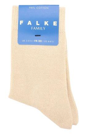 Детские носки из хлопка FALKE бежевого цвета, арт. 10645 | Фото 1