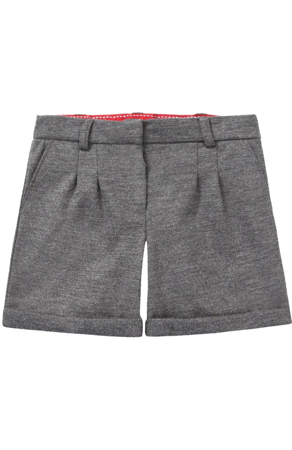 Шерстяные шорты с отворотами   Фото №1