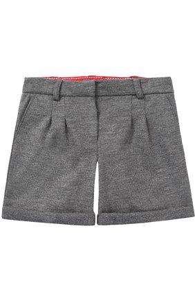 Детские шерстяные шорты с отворотами Dolce & Gabbana серого цвета   Фото №1