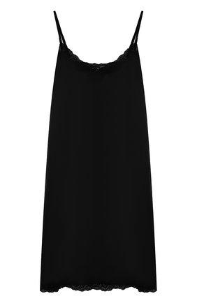 Шелковая сорочка с кружевной отделкой Vannina Vesperini серая | Фото №1