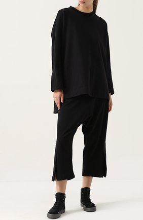 Укороченные расклешенные брюки Y-3 черные | Фото №1