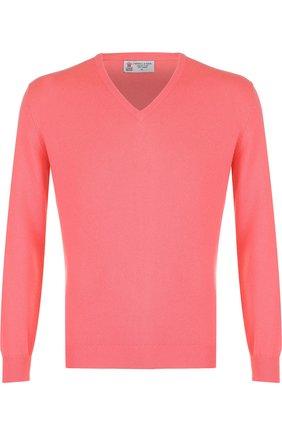 Кашемировый пуловер тонкой вязки | Фото №1