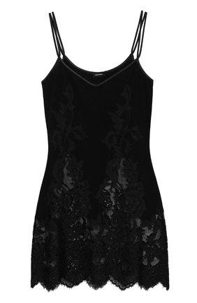 Сорочка из смеси шерсти и шелка с кружевной отделкой | Фото №1