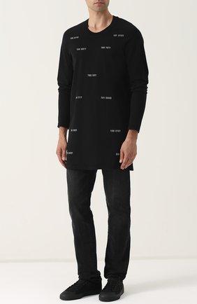 Текстильные кеды Spirit V adidas by Raf Simons черные | Фото №1