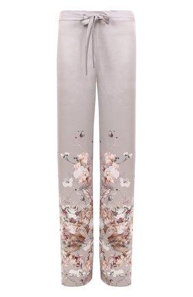 Шелковые брюки с принтом | Фото №1