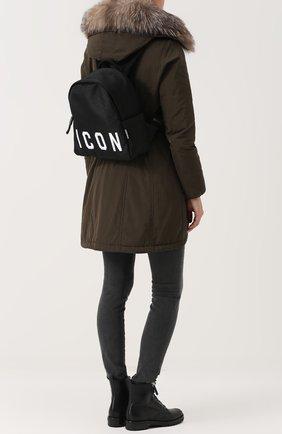 Рюкзак из текстиля с принтом   Фото №2