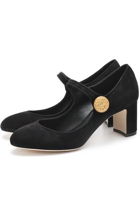 Замшевые туфли Vally на устойчивом каблуке | Фото №1