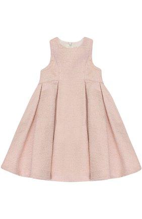 Платье с металлизированной отделкой и защипами | Фото №1