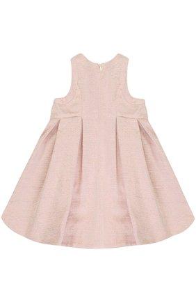 Платье с металлизированной отделкой и защипами | Фото №2