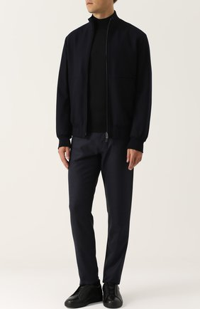 Мужские кожаные кеды с эластичными вставками ZEGNA COUTURE черного цвета, арт. A2205X-VAL | Фото 2