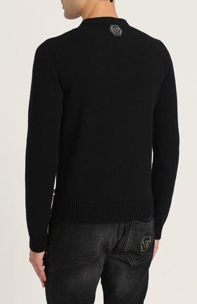 Шерстяной джемпер с контрастной вышивкой | Фото №4