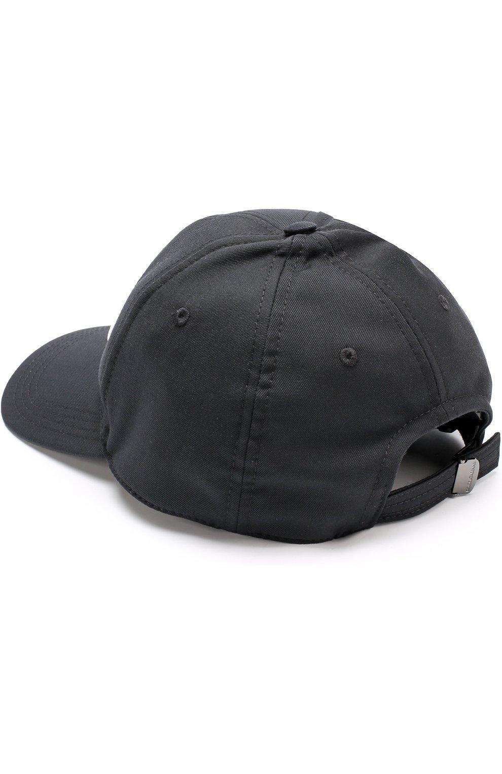 Бейсболка из смеси шерсти и хлопка с шелком Dolce & Gabbana черного цвета | Фото №2