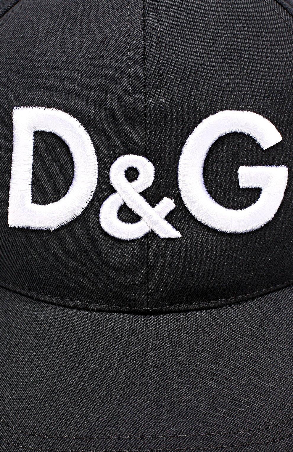Бейсболка из смеси шерсти и хлопка с шелком Dolce & Gabbana черного цвета | Фото №3