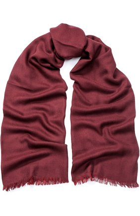 Мужской шарф из смеси кашемира и шелка LORO PIANA бордового цвета, арт. FAF2189 | Фото 1