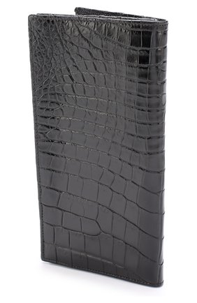 Футляр для документов из кожи крокодила Dami темно-синего цвета | Фото №1