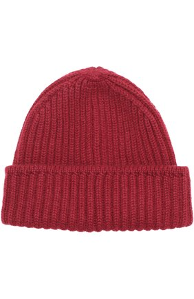 Кашемировая шапка фактурной вязки с отворотом   Фото №1