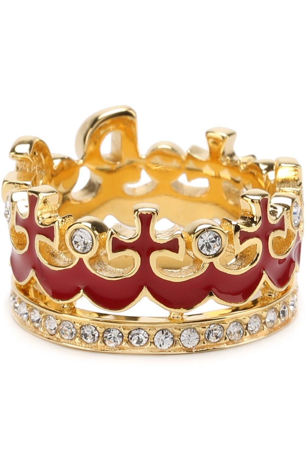 Кольцо с отделкой из кристаллов Swarovski Dolce & Gabbana золотое | Фото №3