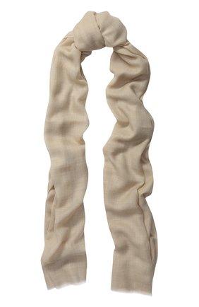 Кашемировый шарф Piacenza Cashmere 1733 кремовый | Фото №1