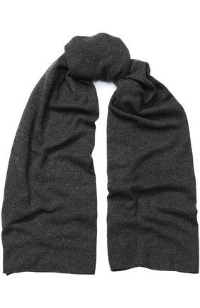 Кашемировый вязаный шарф Le Kasha темно-серый   Фото №1