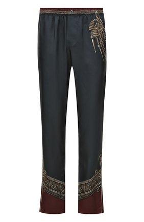 Шелковые брюки прямого кроя с принтом | Фото №1