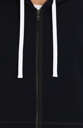 Шерстяной кардиган на молнии с капюшоном   Фото №5