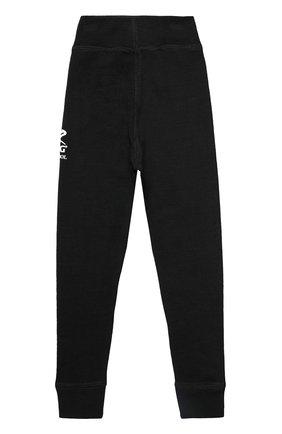 Детские брюки soft из шерсти с прострочкой NORVEG черного цвета, арт. 4SU003RU   Фото 2