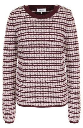 Вязаный пуловер с круглым вырезом