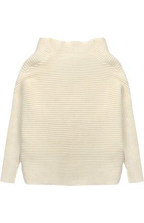 Пуловер фактурной вязки с воротником-стойкой   Фото №2