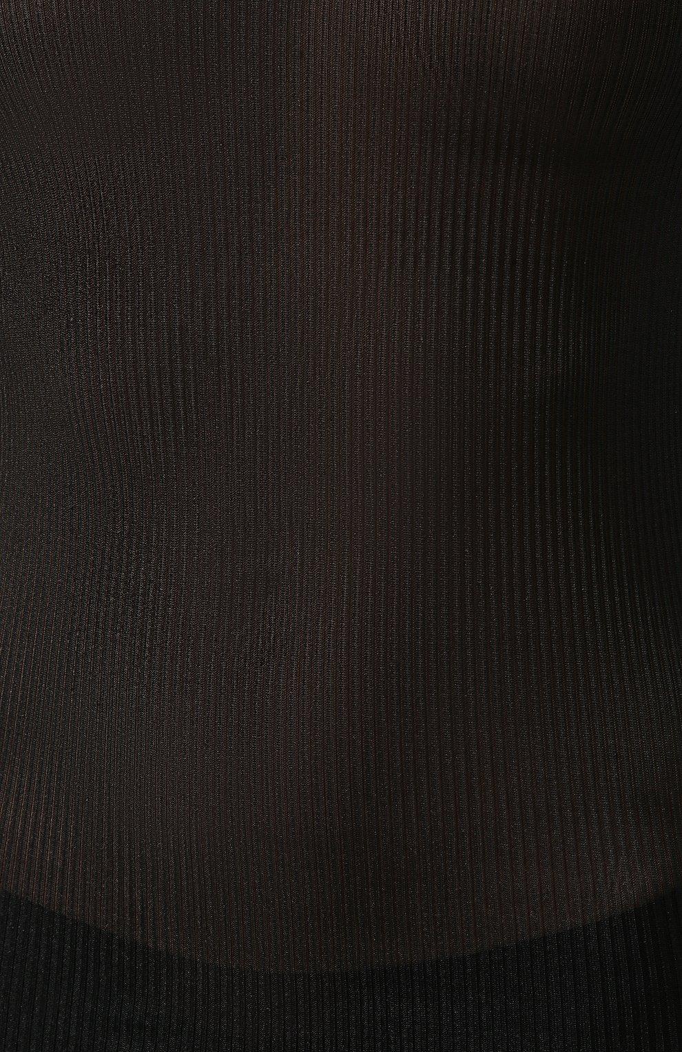 Женская шелковая майка DANA PISARRA черного цвета, арт. PARIGI/SE03   Фото 5