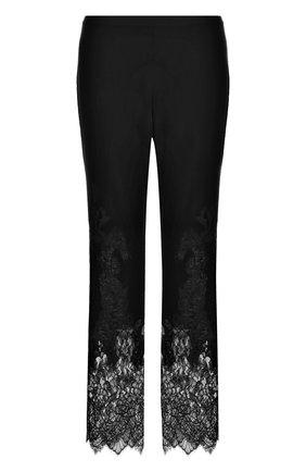 Расклешенные брюки с кружевной отделкой | Фото №1