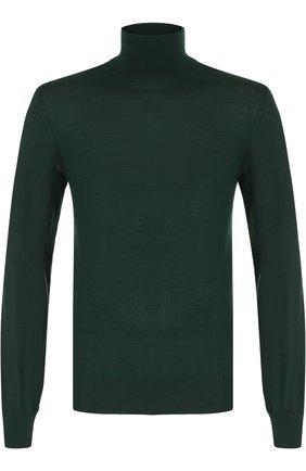 Кашемировая водолазка тонкой вязки Dolce & Gabbana зеленый | Фото №1