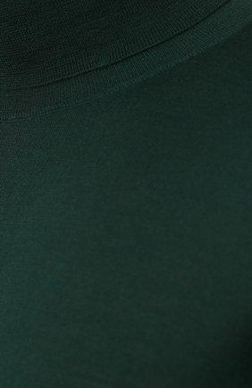 Кашемировая водолазка тонкой вязки Dolce & Gabbana зеленый | Фото №5