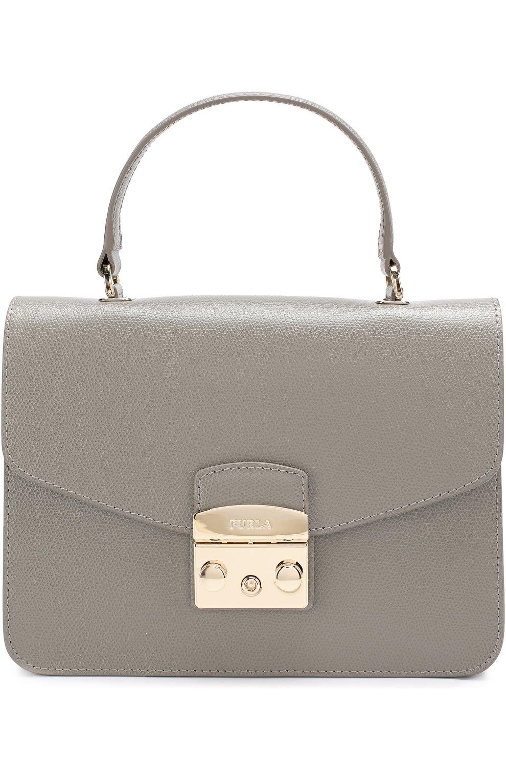 Женская сумка-тоут metropolis FURLA серого цвета — купить за 25000 ... 54afae417f6
