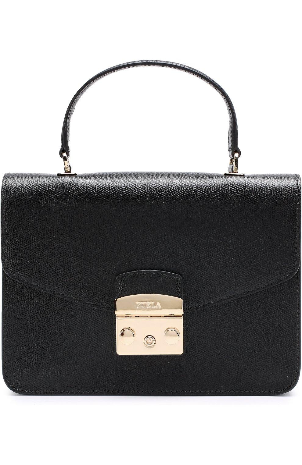 Женская сумка-тоут metropolis FURLA черного цвета — купить за 25000 ... 2823544a6dd