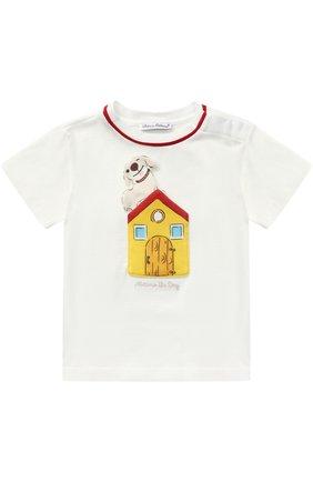 Хлопковая футболка с аппликацией | Фото №1
