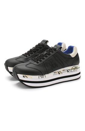Кожаные кроссовки Beth на шнуровке | Фото №1