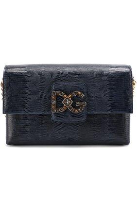 Сумка DG Millennials Dolce & Gabbana темно-синяя цвета | Фото №1