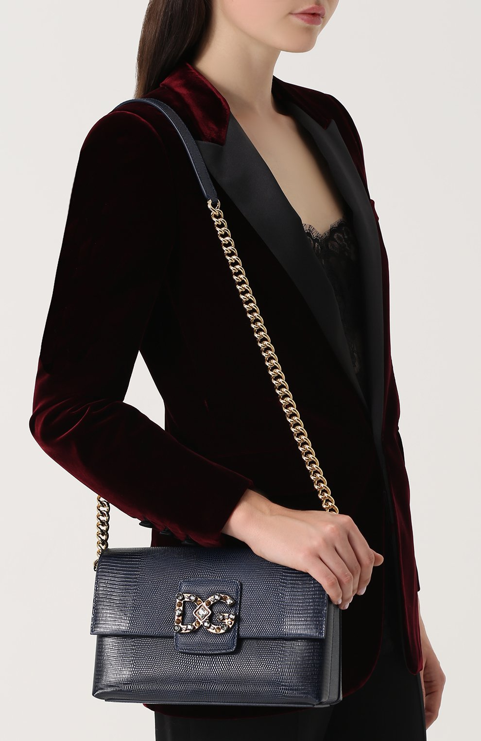 Сумка DG Millennials Dolce & Gabbana темно-синяя цвета | Фото №5