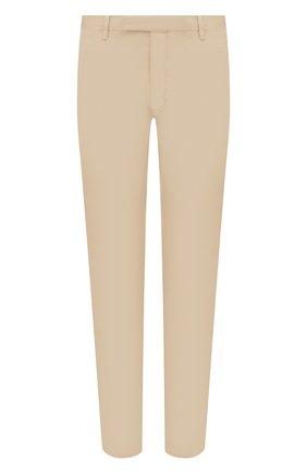 Мужские хлопковые брюки POLO RALPH LAUREN бежевого цвета, арт. 710644988 | Фото 1 (Длина (брюки, джинсы): Стандартные; Материал внешний: Хлопок; Случай: Повседневный; Стили: Кэжуэл)