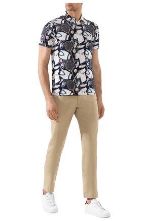Мужские хлопковые брюки POLO RALPH LAUREN бежевого цвета, арт. 710644988 | Фото 2 (Длина (брюки, джинсы): Стандартные; Материал внешний: Хлопок; Случай: Повседневный; Стили: Кэжуэл)