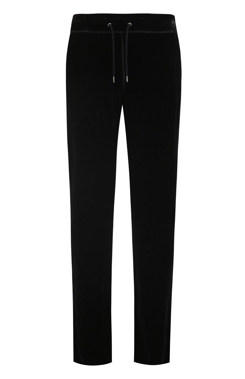 2825e10e2ce Мужские черные брюки из смеси вискозы и шелка GIORGIO ARMANI ...